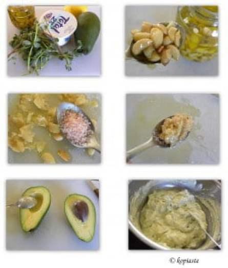 Collage Avocado Purslane Tzatziki
