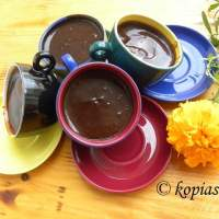 Chocolate Pudding with Petimezi and Charoupomelo