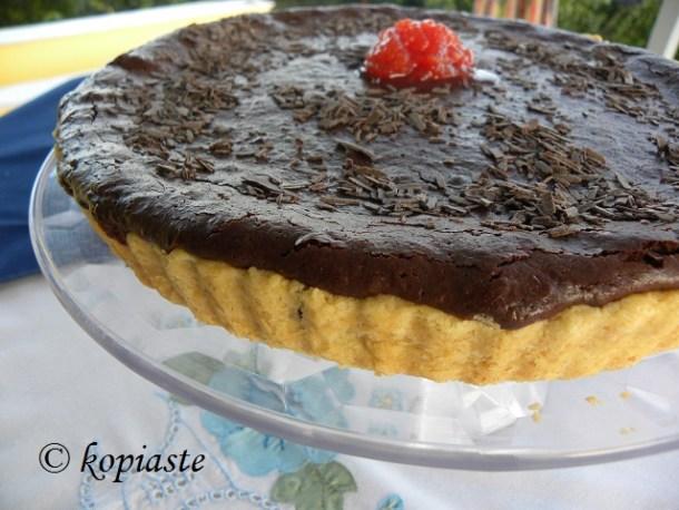 Tart with Chocolate