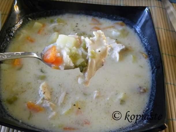 chicken soup avgolemono