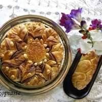 Tsoureki Flower filled with Praline