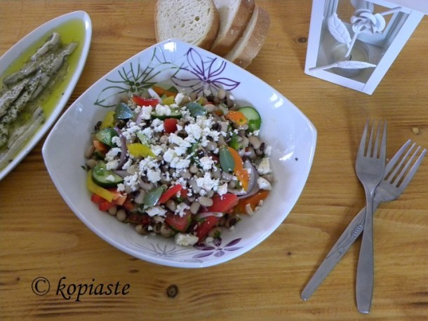 Black eyed peas Greek Salad5