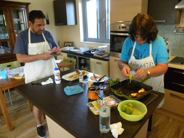 Cooking class making halloumi appetizer image