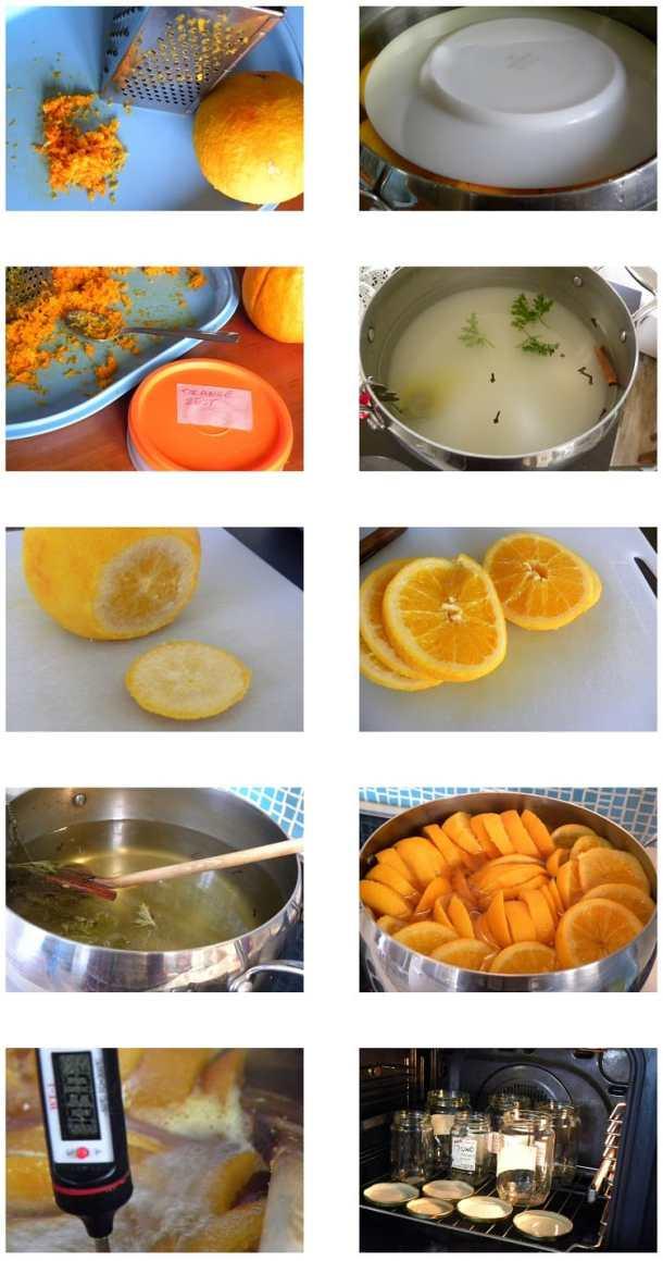 Collage Orange Preserve in slices