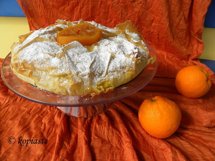 Orange pie (portokalopita)