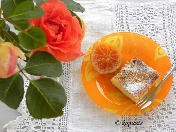 Galatopita with rose and orange image