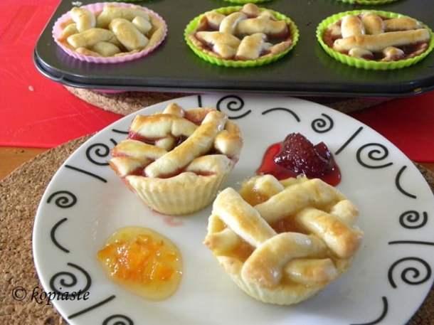Strawberry and Seville orange mini tarts image