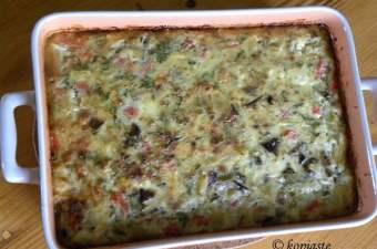 Baked moussakas frittata image