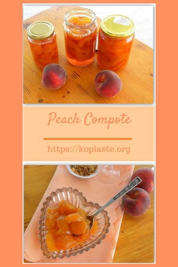 Collage Peach compote image