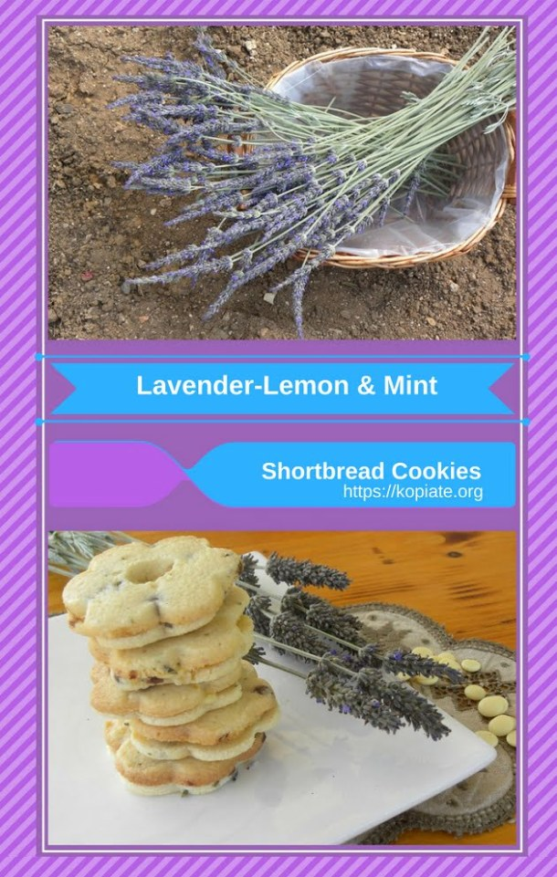 collage lavender cookies image
