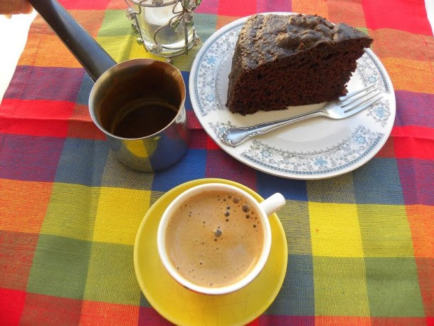 Chocolate Mayonnaise Cake with Cappuccino Glaze picture