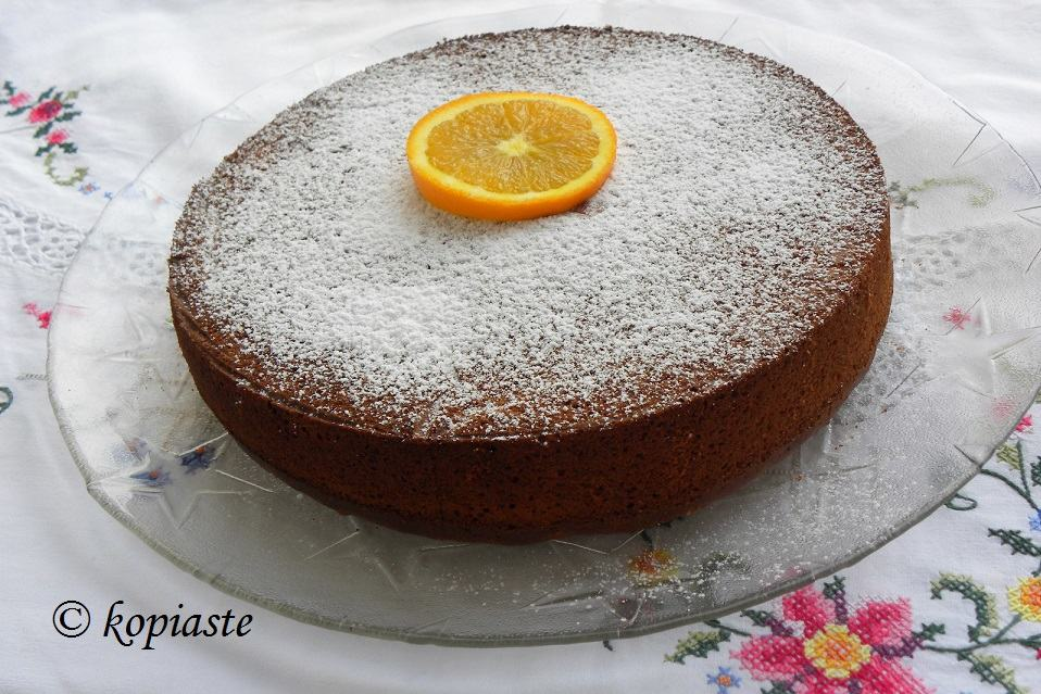 Cinnamon and Almond Orange Pulp Olive Oil Cake