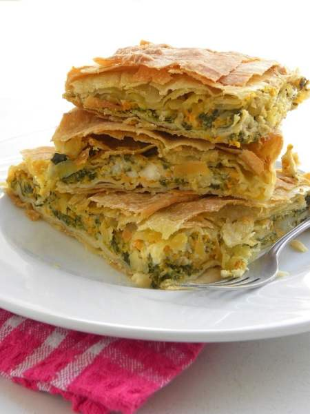 Butternut Squash Pie with Spinach and feta