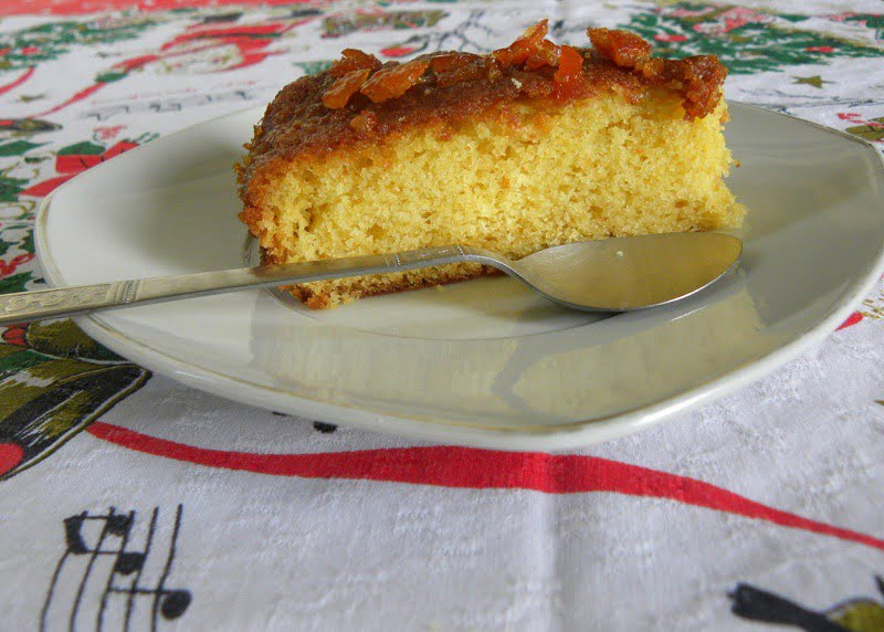 Mandarin Cake with Glaze