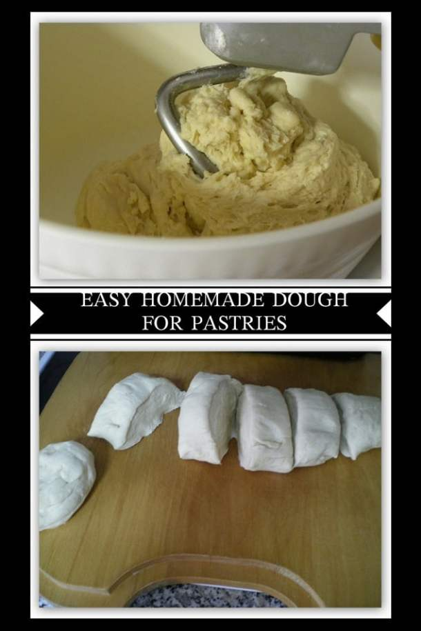 collage dough for phyllo from scratch image