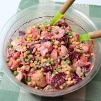Kotosalata (Chicken Salad) with Leftover Chicken