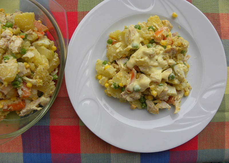 Kotosalata (Chicken Salad) with Leftover Chicken
