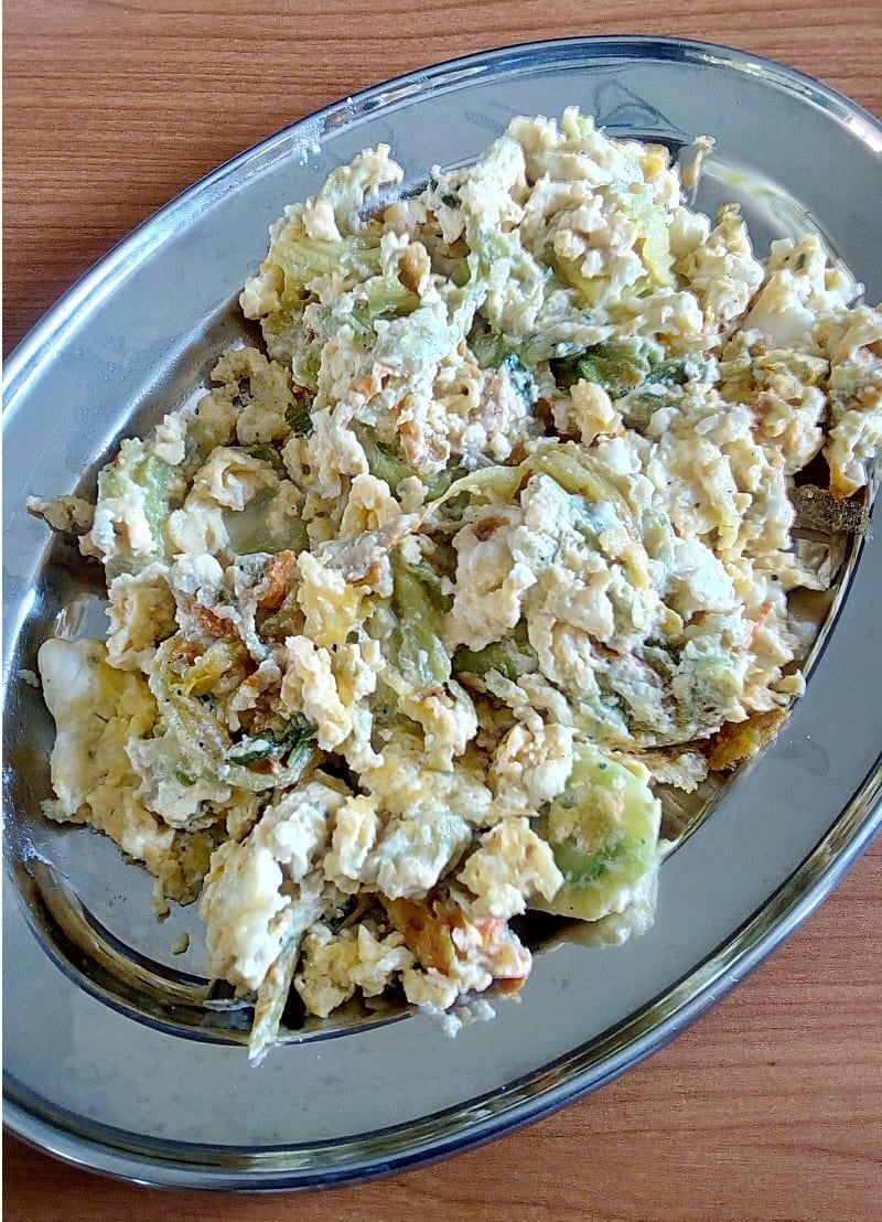 Zucchini flowers scrambed eggs image
