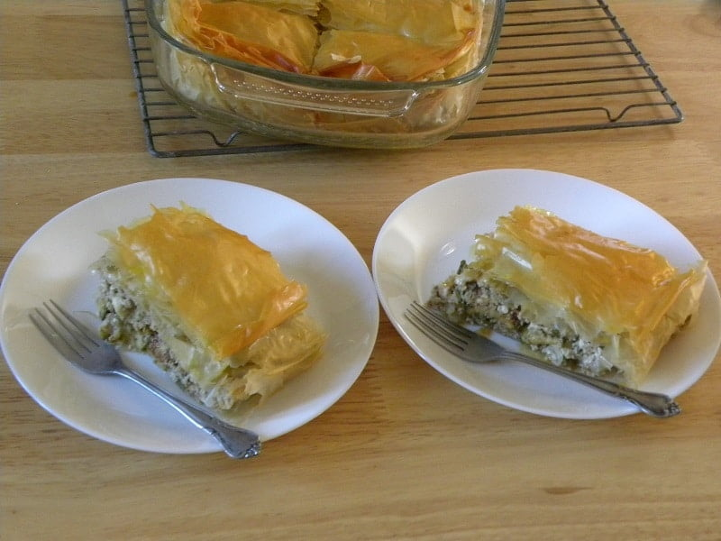 zucchini flower pie image