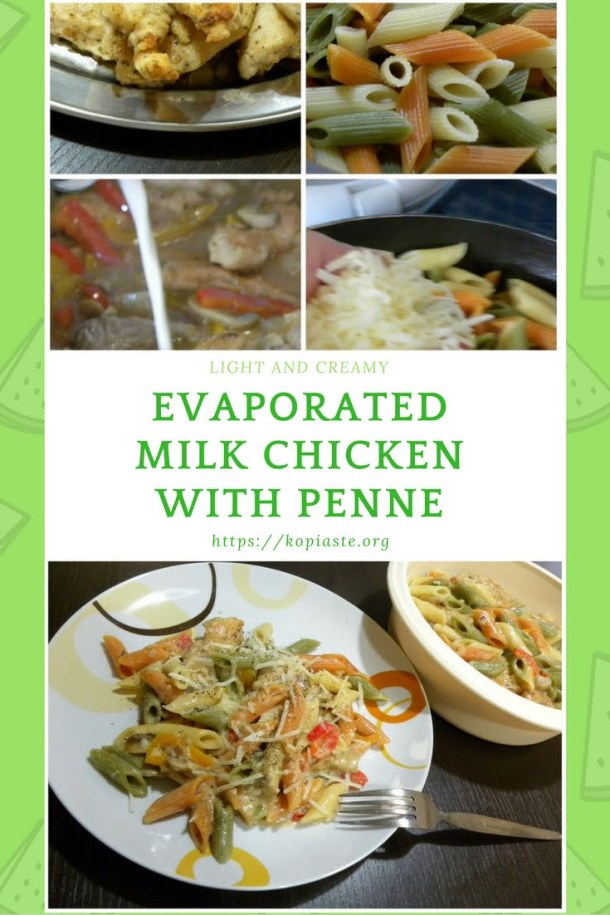 Collage Chicken with evaporated milk and penne image