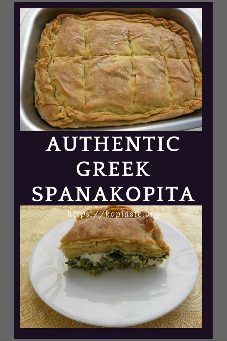 collage spanakopita spinach pie image