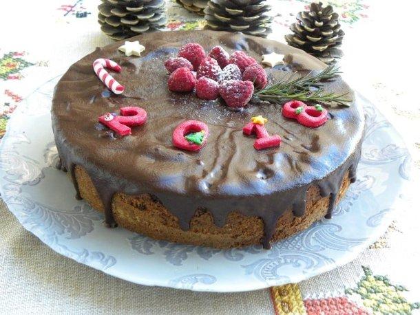 coffee cake with ganache image