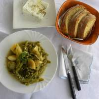 Koukia, Fava Beans with lemon sauce, the Greek way