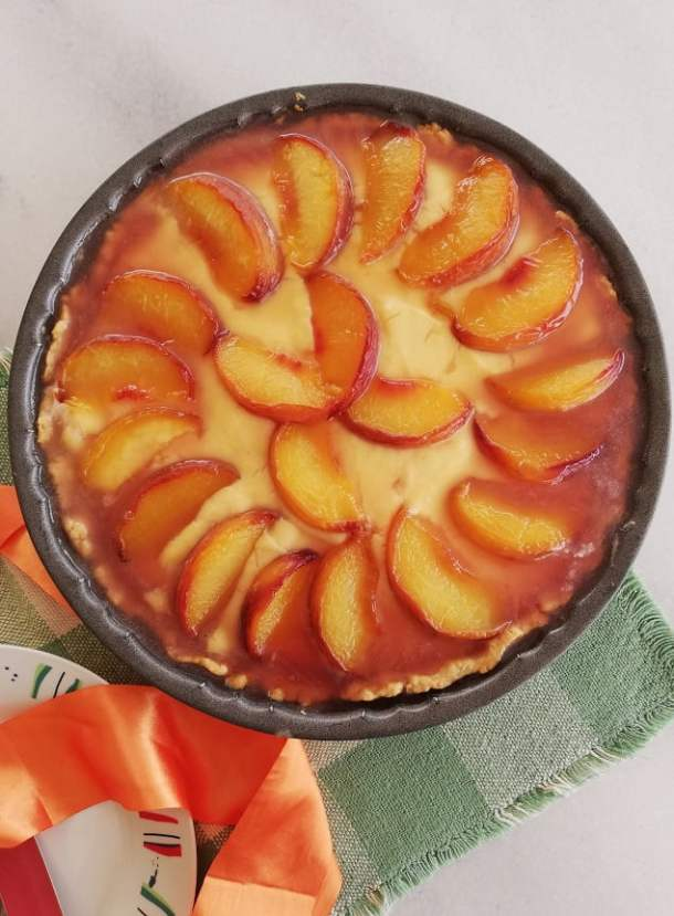 Caramelized Peach Custard Tarte Tatin photo