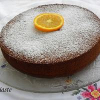 Cinnamon and Almond Orange Pulp Olive Oil Cake