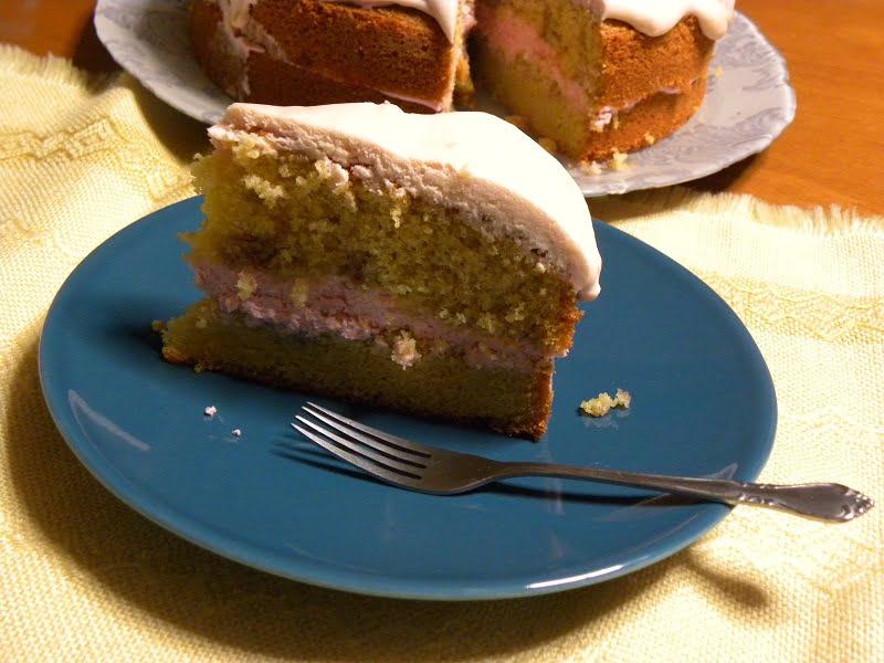Pomegranate Pink Birthday Cake image