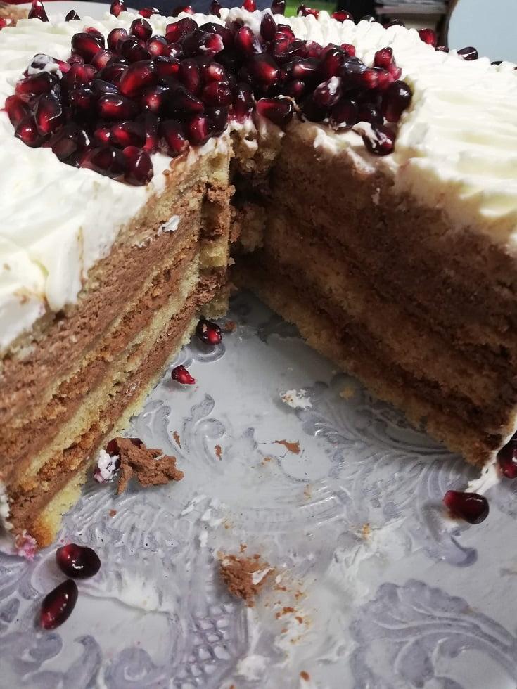 Sockerkaka cake cut image