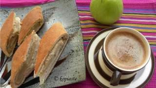 Tahinopita me Mila (Tahini Bread with Apple Filling)