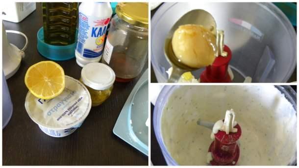 Collage garlic sauce image