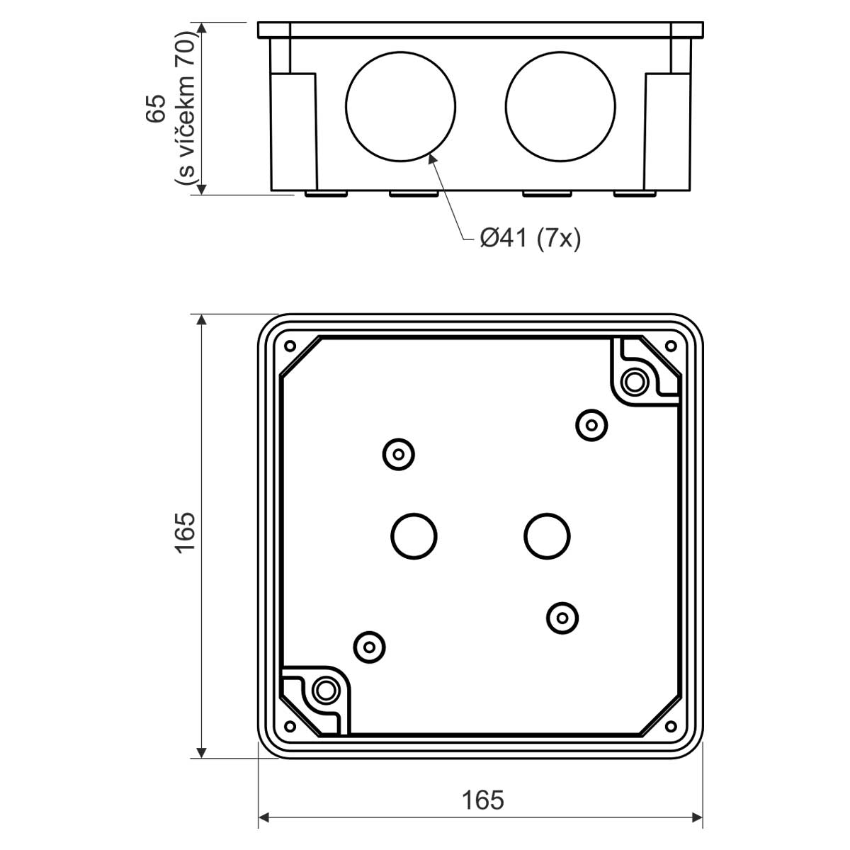 Junction Box With Sealing And Terminal Plate S 96