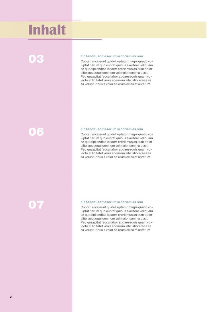 Innenseite und Inhaltsverzeichnis