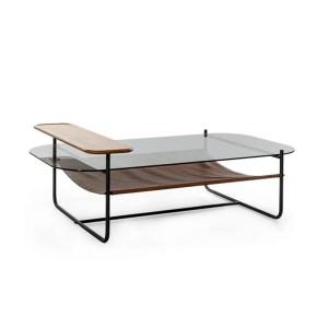 klub sto, staklo i drvo, moderan sto