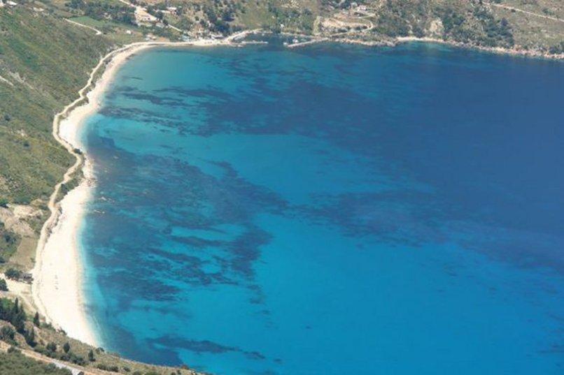 Agia Kyriaki with clear blue water. Do not miss out on a fresh fish meal at the nearby family taverna.