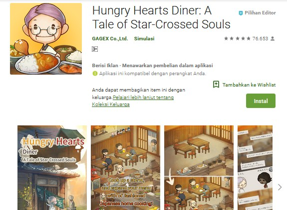 Hungry Hearts Diner : Tale of Star-Crossed Souls