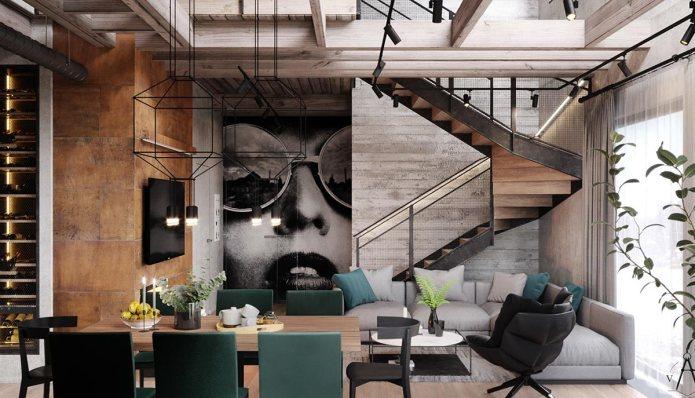 Rumah minimalis modern dengan sentuhan industrial
