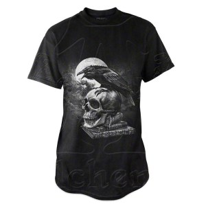 T-Shirt Noir Corbeau de Edgar Allan Poe