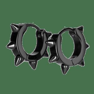 Boucles Noires pour Oreilles avec Pointes