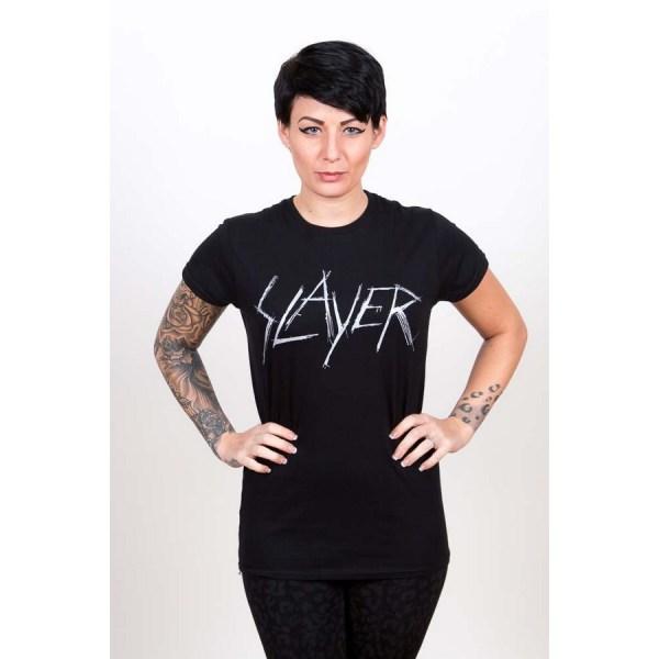 T-shirt Slayer Girly Scratchy Logo