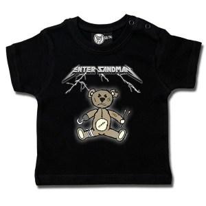 t-shirt bébé enter sandman