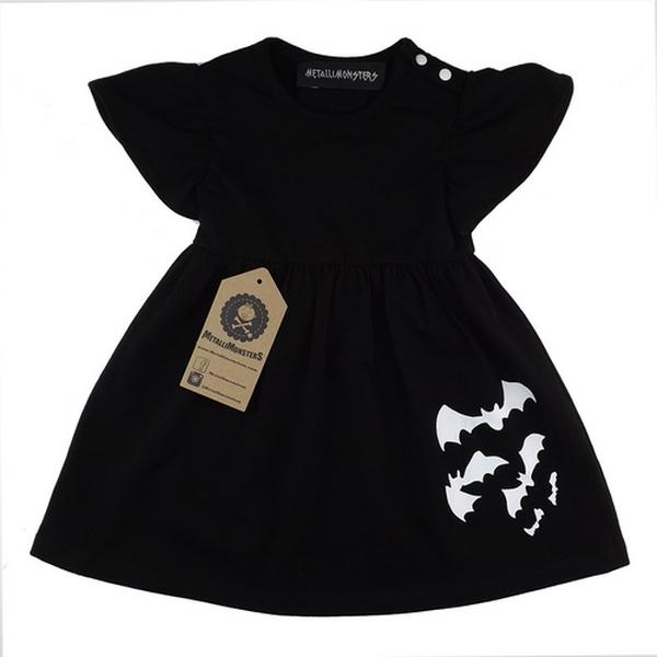 Robe Enfants Bats Noire