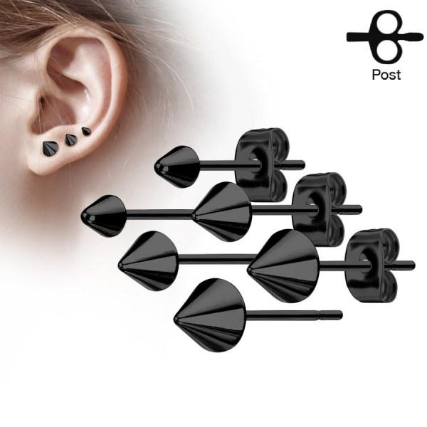 clous pour oreilles cônes 4mm