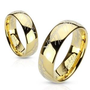 bague seigneur des anneaux dorée