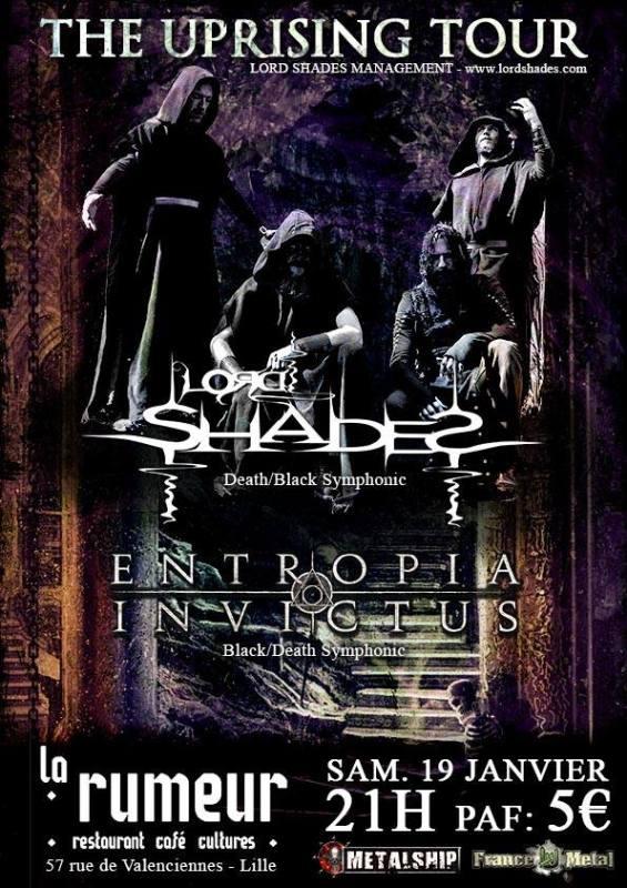 Lord Shades + Entropia Invictus à Lille 59