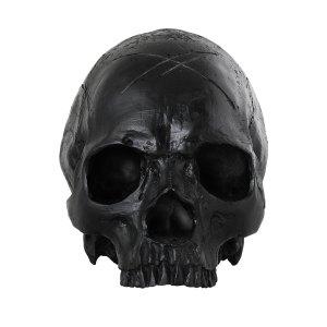 Crâne Noir en Résine