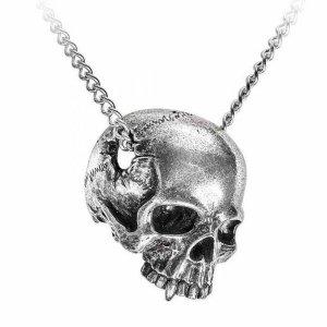 Pendentif Crâne Remains en Etain