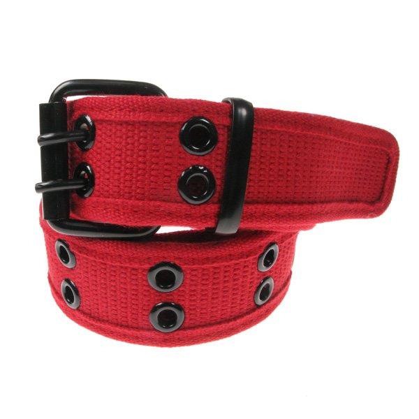 ceinture militaire coton rouge